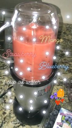 Terrific No Cost HEALTHY SMOOTHIE (Strawberry Passion), . Style Strawberry and Strawberry Blueberry Smoothie Recipes Many popular smoothie recipes have one thing i Fruit Smoothie Recipes, Yummy Smoothies, Smoothie Drinks, Yummy Drinks, Healthy Drinks, Healthy Snacks, Healthy Recipes, Smoothie King, Detox Recipes