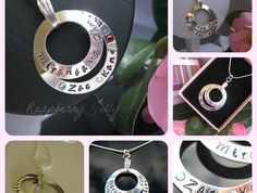 Anete Hand Stamped Infinity Circle Pendant