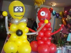 Yo Gabba Gabba balloons.  Maybe just do the faces on the balloons?