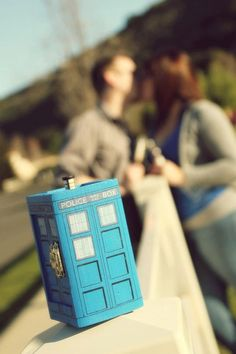 TARDIS Inspired Small Painted Blue Box by SciFiMC on Etsy