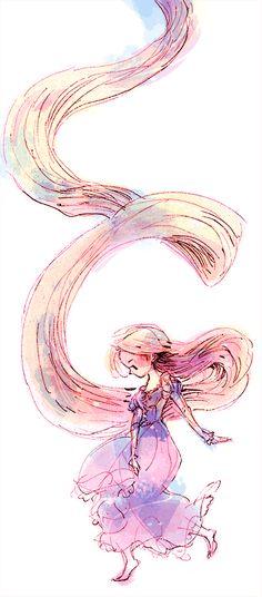 Mi cabello recorre el mundo : rapunzel