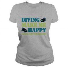 I Love Diving Frog aa slim fit tee women lavender  Shirt Scuba Diving Shirt T shirts