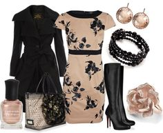 """Roses in Black and Nude"" by mama-candy on Polyvore"