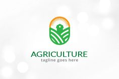Agriculture Logo Template by gunaonedesign on Branding, Plant Logos, Eco Store, Agriculture Logo, Thing 1, Green Logo, Minimal Logo, Freelance Graphic Design, Photography Logos
