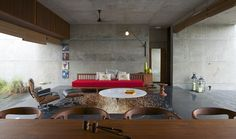 The House Cast in Liquid Stone by SPASM Design Architects