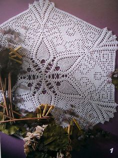 Crochet patterns for napkins and tablecloth