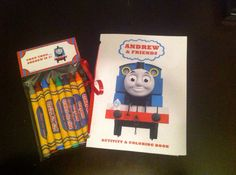 Thomas the Train Coloring Book and Crayon Favors  by SRDesserts