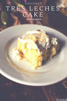 Coconut Tres Leches Cake | PasstheSushi.com