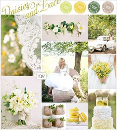 {Inspiration Board} Daisies + Lace: Planning for Spring & Summer Weddings - Oh Lovely Day