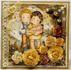 Magnolia Tilda's family vintage/shabby distressed card