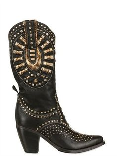 ShopStyle: EL VAQUERO50mm Studs And Swarovski Leather Boots