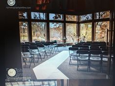 Ceremony seating at Gheens lodge, louisville ky