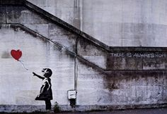 There is always hope » Banksy street art poster