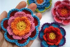 You will  our gorgeous collection of Crochet Wildflowers that includes this stunning 'Neverending Wildflower' that has been hugely popular. We've included loads of inspiration including some cute and colourful versions plus blankets and . Check out the stunning Puffy Flower Blanket too and yes, they are all FREE Patterns!