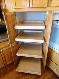 pull out pantry shelves on pinterest pull out shelves. Black Bedroom Furniture Sets. Home Design Ideas