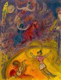 View from Le Cirque by Marc Chagall on artnet. Browse upcoming and past auction lots by Marc Chagall. Marc Chagall, Pablo Picasso, Chagall Paintings, Georges Pompidou, Circus Art, Circus Poster, Oil Painting Reproductions, Art Plastique, Famous Artists
