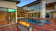 Wooden Deck With Pool And Hot Tub Plus Fire Pit As Well As Custom Hot Tub Designs  Plus Screened In Hot Tub Deck Ideas