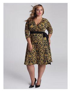 Neve Wrap Dress in Gold | Sonsi