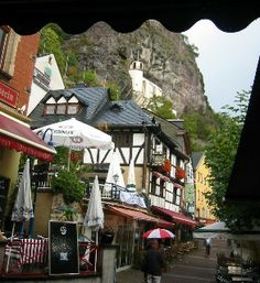 Idar Oberstein. Pretty little town. Great shopping--truly my oasis, always.