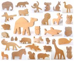 ANY 6 animals Organic wooden toy Wooden toy от mielasiela