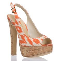I love a pretty pair of heels and these orange platforms top my list of cute. They can actually be paired with a variety of outfits from a pair of rolled jeans to a classy dress. Love it!