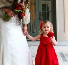 Red Wedding Flower Girl Ideas  #Red #Flowergirl #Dress