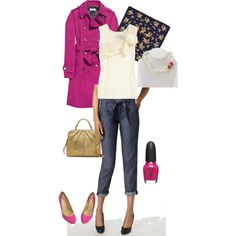 wwepw so chic habitual jeans and fuschia - drools