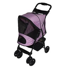 Pet Gear Happy Trails Plus Pet Stroller with Weather Guard for cats and dogs up to 30-pounds, Pink Ice *** Learn more by visiting the image link.