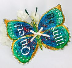Excited to share this item from my shop: Christian Gift - Handmade Bible Verse Butterfly Mark 4 v Quiet, Be Still, Calm The Storms, Gift Tag Calming The Storm, Mark 4, Glue Dots, Christian Gifts, Storms, Gift Tags, Bible Verses, Butterflies, Wings