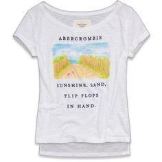 Abercrombie & Fitch Celeste Tee ($30) via Polyvore