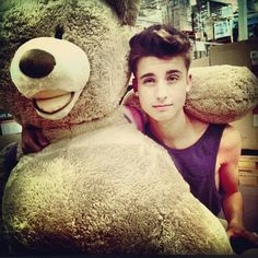 Chris Collins with a freaking bear! I can't decide who's cuter. Wait... Chris. Definitely Chris.