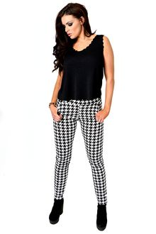 Front View Black & White Houndstooth Trousers | NeedThatLook.com Trousers, Pants, Houndstooth, Fashion Outfits, Black And White, Shopping, Clothes, Trouser Pants, Trouser Pants