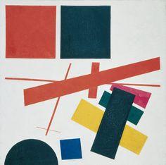 Malevich, Suprematismo. Composizione non-oggettiva,1915, Museo di Belle Arti di Ekaterinburg.