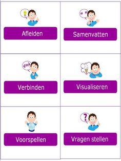 Picto's bij de leerstrategieën. Beetje van ons en beetje van Nieuwsbegrip. @eimink  @Onderwijsgek  #begrijpendlezen