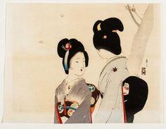 FOUR ORIGINAL WOODBLOCK PRINTS BY TOMIOKA EISEN