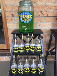 Batman birthday party! See more party planning ideas at CatchMyParty.com!