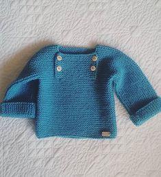 Free Knitting Pattern f r Easy Garter Stitch Baby Pullover - Der nat rliche Ba Baby Der Easy Free fuer Garter Knitting nat rliche Pattern Pullover Stitch DiyAbschnitt Diy Abschnitt Baby Boy Sweater, Crochet Cardigan Pattern, Baby Sweaters, Baby Knitting Patterns, Baby Patterns, Crochet Patterns, Crochet Ideas, Pull Bebe, Garter Stitch