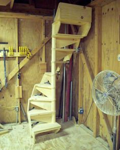 SPIRAL STAIRCASE PLANS, SIMPLE DESIGN, Easy to Build