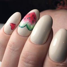 296 отметок «Нравится», 1 комментариев — #geek_nails_daria (@d.arii.a) в Instagram: «Арбуэ #фруктынаногтях #fruitnails #fruits #watermelon #summer #рисункинаногтях #дизайнногтейспб…»