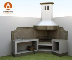 concrete outdoor grill