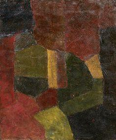 Composition Rouges, bruns et gris 1955 - Serge Poliakoff (1906/1969)