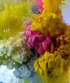 Kim Keever's soft, ethereal photos that capture the random qualities of pigment suspended in water.