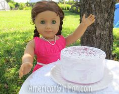 American Girl doll cake!