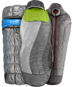 Nemo Sleeping Bags  Ten years ago the New Hampshire-based Nemo put the big-name mountain equipment brands on guard with their innovative tent designs. Now, Nemo is set to do a repeat with the introduction of their new spoon-shaped sleeping bags. This design allows freedom of movement where you need it most, in the shoulders, knee and feet areas. Set to launch next season, Nemo is currently offering a small pre-run of bags that come with limited-label labeling.