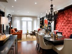 12-Classic-traditional-high-button-backed-upholstered-wall-dining-banquette-red-orange-and-black.jpg (616×462)