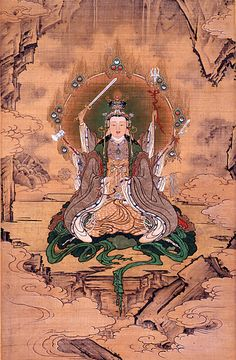 Eight armed Benzaiten (Sarasvati) by Kano Hogai