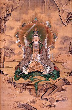 Eight armed Benzaiten (Sarasvati) by Kano Hogai