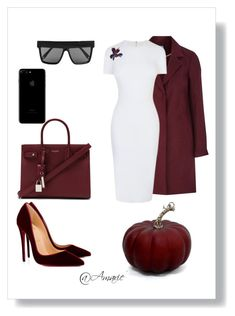 """Untitled #395"" by aeriellindsy ❤ liked on Polyvore featuring Christian Louboutin, Victoria Beckham and Yves Saint Laurent"
