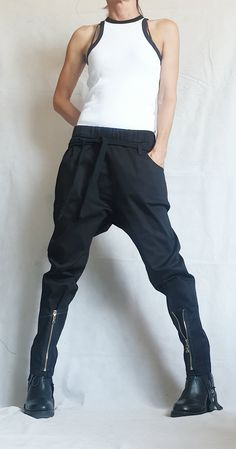 Baggy Trousers, Harem Pants, Gothic Pants, Cyberpunk, Loose Pants, Parachute Pants, Cool Outfits, Pants For Women, Tights