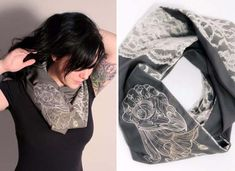 DIY Crafts You Can Make with Lace | Cool DIY Ideas for Fashion, Decor, Gifts, Jewelry and Home Accessories Made With Lace | Lace Infinity Scarf | http://diyjoy.com/diy-crafts-ideas-with-lace
